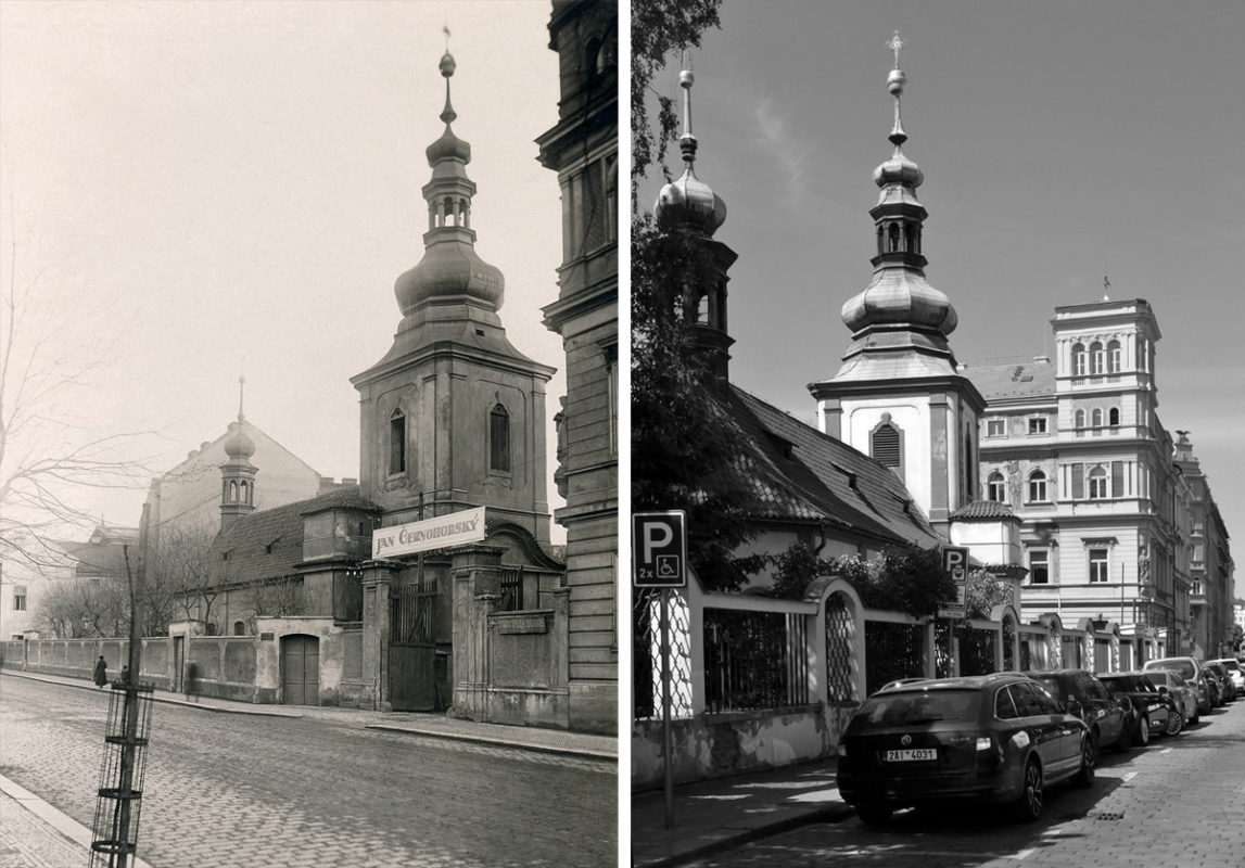 U Prasátků, kostel Nejsvětější Trojice – Podskalí