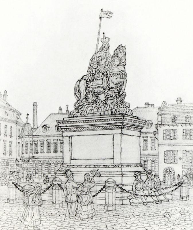 Vincenc Morstadt – Pomník sv. Václava na Koňském trhu, 1873
